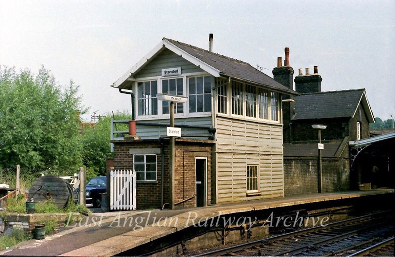 Stansted Signal Box.  31st August 1979
