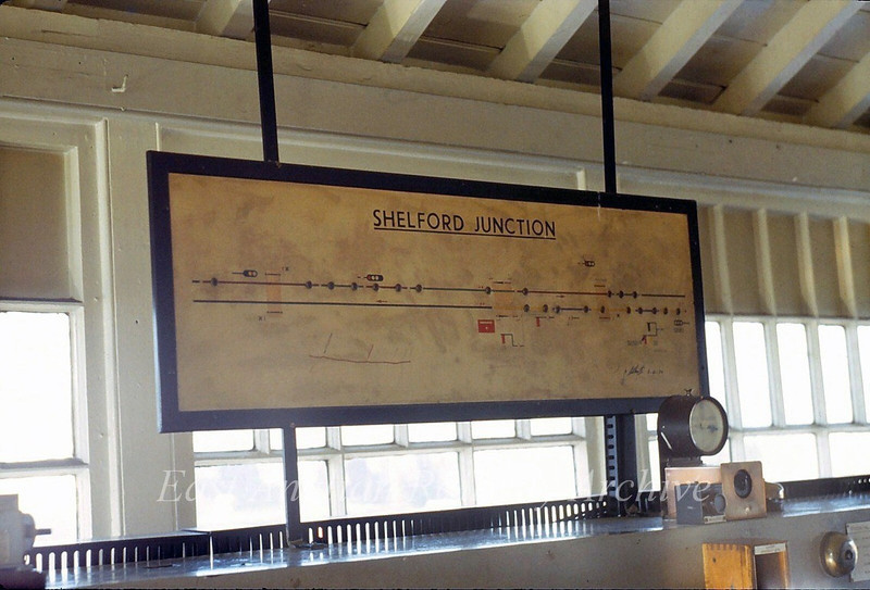 Shelford Signal Box track diagram. A reminder when this was the junction box for the Stour Valley Line to Colchester.   20th October 1979