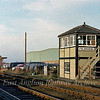 Fulbourn Signal Box, a Great Eastern Saxby and Farmer design which closed on 8th May 1983. The station goods shed can also be seen.  8th December 1979