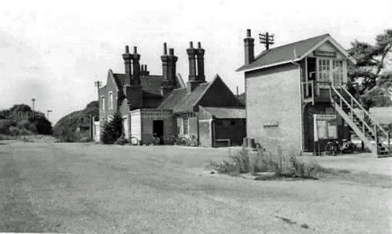 Dullingham with a nice view of the station house, now demolished.