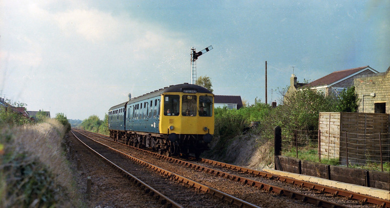 Cherry Hinton Crossing, Cambridge on 24th October 1978. The working is the 1454 Cambridge to Harwich Town.