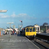 Ipswich bound dmu at Newmarket on 25th October 1977.  In the background is the signal box which on 3rd January 1978 was damaged beyond repair by a freak storm and demolished two days later.