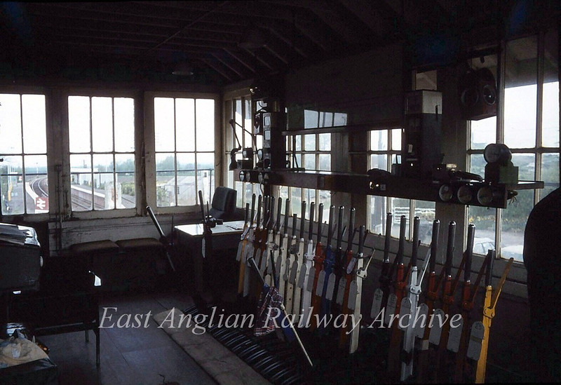 Littleport Signal Box interior.  5th May 1980.