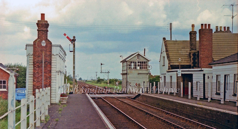 Magdalen Road now known as Watlington. This the former Junction station for the line to Wisbech East.  16th August 1978. The station had at one time been closed. It re opened on May 5th 1975.