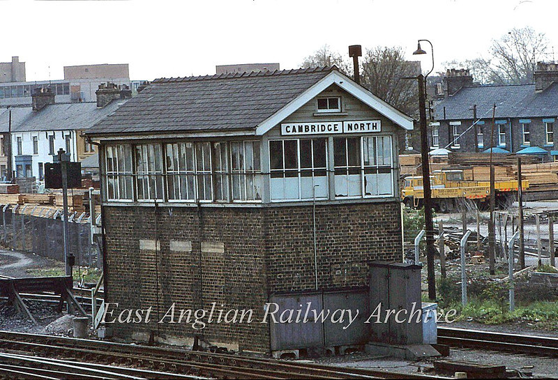 Cambridge North Signal Box 12th May 1980