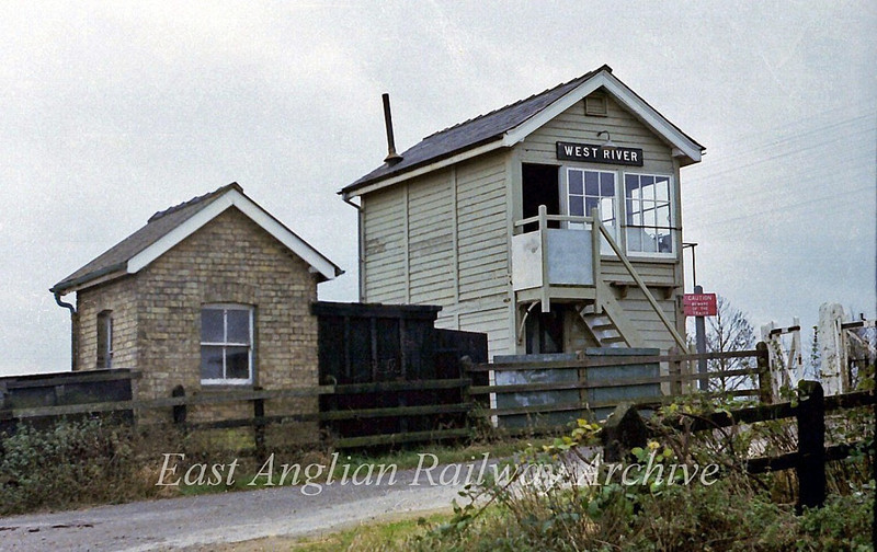 West River Signal Box between Waterbeach and Ely.  18th November 1978