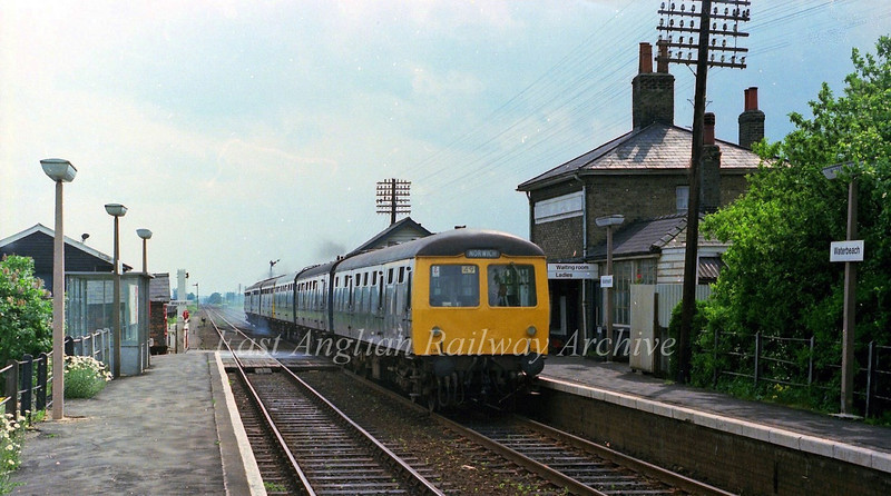 Waterbeach on 5th June 1978 showing the now demolished station house.