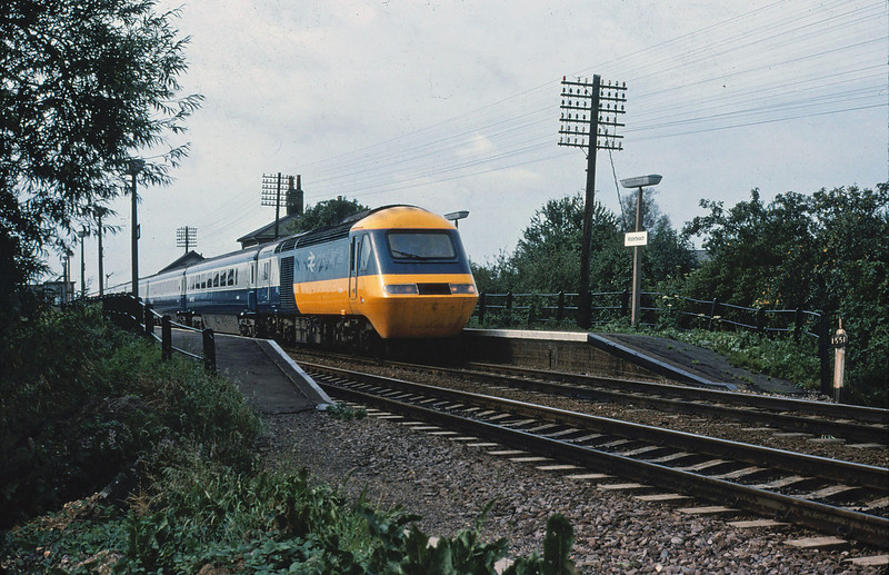 East Coast Main Line diversion at Waterbeach. November 1982