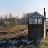 Kings Lynn Junction Box  31st December 1979 showing the track bed of the former Hunstanton Line to the left.