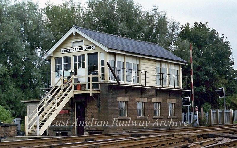 Chesterton Junction Signal Box.  22nd November 1978