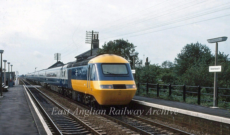 1000 Kings Cross to Edinburgh passes Waterbeach during an East Coast Main Line diversion.   20th September 1981