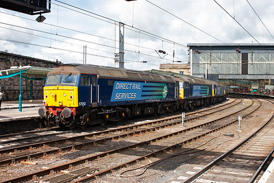 A quick change of battery and I grab the class 57's as they pass by. The movement is highly likely a Crewe Gresty Lane to Carlisle Kingmoor trip. Freightliner handed back their original ten class 57's and DRS took several of them.