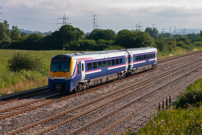 Another different unit in the shape of a class 175 Coradia in First Group colours 175004. This train, 1V51, left Holyhead at the unsocial hour of 0425 heading for Cardiff.