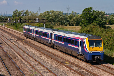 175113 is caught again heading east with 1W49 0800 Carmarthen to Manchester Piccadilly, or so I thought but not long before this shot I recorded it on what I thought was a Milford Haven working, naaa! I don't know what this working is.