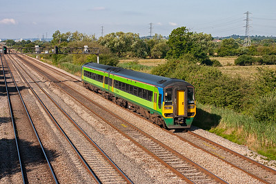 Something different with another class 158 sprinter unit. 158848 wears the green colours of Central Trains but is branded Arriva and is on an Arriva diagram, 1W24 0605 Milford Haven to Manchester Piccadilly.