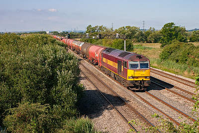 The daily 6B13 0533 Robeston to Westerleigh tanks approaches with 60004 hauling the 2500+ tonne train of petroleum products.
