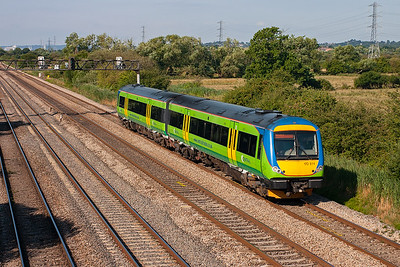 Central trains turbostar 170514 forms 1M58 0845 Cardiff to Nottingham.