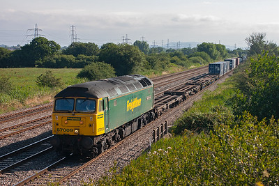 4O50 0500 Southampton to Wentloog freightliner is usually booked for a class 57 and today 57009 is rostered to the train.
