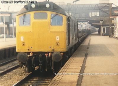 Class 25 Stafford 2 1980s