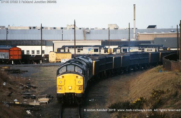 37100 37262 2 Falkland Junction 090496
