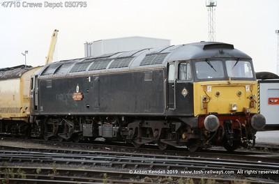 47710 Crewe Depot 050795
