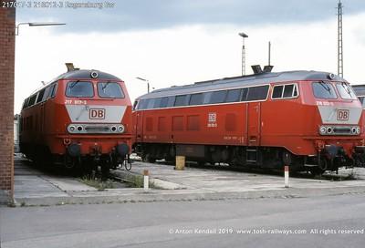 217017-3 218012-3 Regensburg Bw