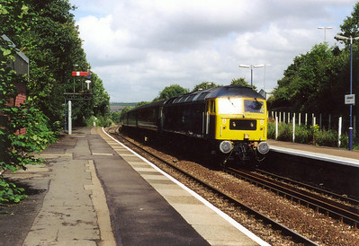 OK, this is Liskeard which is in Cornwall and outwith the area of the title. But I just had to include this shot of BR blue 47840 making its station stop with 1M56 0846 Penzance to Manchester Piccadilly on 1st August. On Monday the 19th of August, it was all over. Virgin nominated this working to celebrate the end of its loco hauled services.