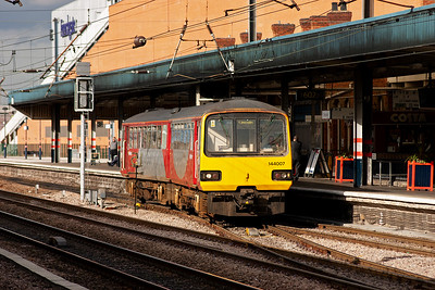 Another Pacer unit sets off for Sheffield having left Scunthorpe at 1518, headcode 2P75. The set is 144007.