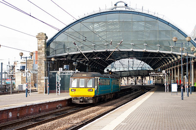 En-route to Doncaster and a stop at Newcastle for a short time to change trains. Pacer unit 143093 enters the impressive train shed designed by John Dobson and was opened in August 1850. The class 142 forms 2N15 0932 Morpeth to Hexham class 2 working.