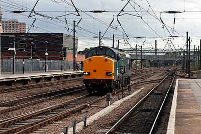 This DRS type 3 brings all the (at the time) UK freight operators to Doncaster on this day. 37038 heads north with another route learning trip, this one is 0Z38 Peterborough to York. I do not know if it was just on the ECML or whether it was via Lincoln but the learners are for the new Open Access operator Grand Central.