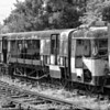 Sligo, Leitrim & Northern Counties Railcar awaiting restoration at Downpatrick railway station, County Down