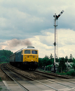 47581 north of Ely – 10.35 Liverpool St Kings Lynn 8/6/85