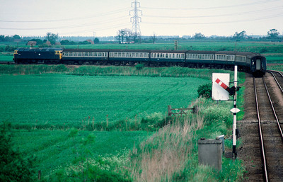 47572 10.42 Yarmouth Birmingham on Ely Loop line 8/6/85
