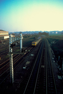 Class 101 leaving Ipswich with 14.58 – Lowestoft 18/2/84