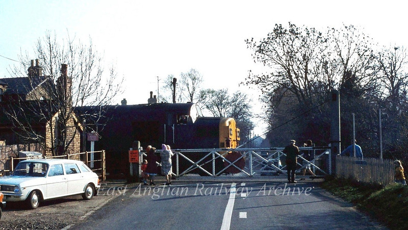 37097 waits to leave Oakington on 12th April 1980 with a Railway Development Society special to Liverpool Street. Not much of this scene survives today.