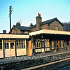 Histon. Buildings on the up platform. 1981