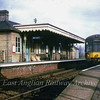 "Derby lightweight dmu E79025/E79614 stands at Somersham on a March to Cambridge working on the last day of services, 4th March 1967. In 1982 The station buildings were recovered and rebuilt at the Fawley Hill Railway near Henley on Thames, <a href=""http://fawleyhill.co.uk/"">http://fawleyhill.co.uk/</a>  Photo with kind permission of Stewart Ingram."