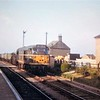 A Class 31  heads south through Chatteris, probably at the time of closure in 1967.  Compare with next photo.<br /> <br /> Image:- thanks to Barry Saunders