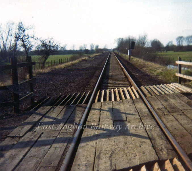 Middle Fen Crossing facing St Ives 24th February 1974.