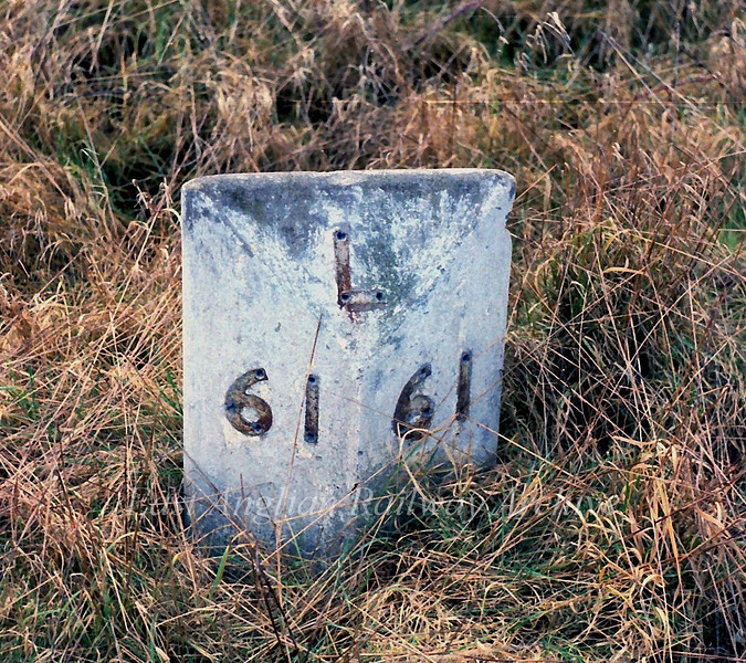 Mile Post 61 ie 61 miles from Liverpool Street at Histon, located somewhere near the end of the goods loop. 9th February 1980