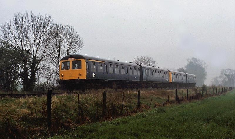 A Railway Development Society special arrives at Oakington.  11th April 1981.