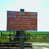 Warning Notice at the occupation crossing shown in the previous but one photo. 13th June 1974. The penalty payment used to read 40 shillings.