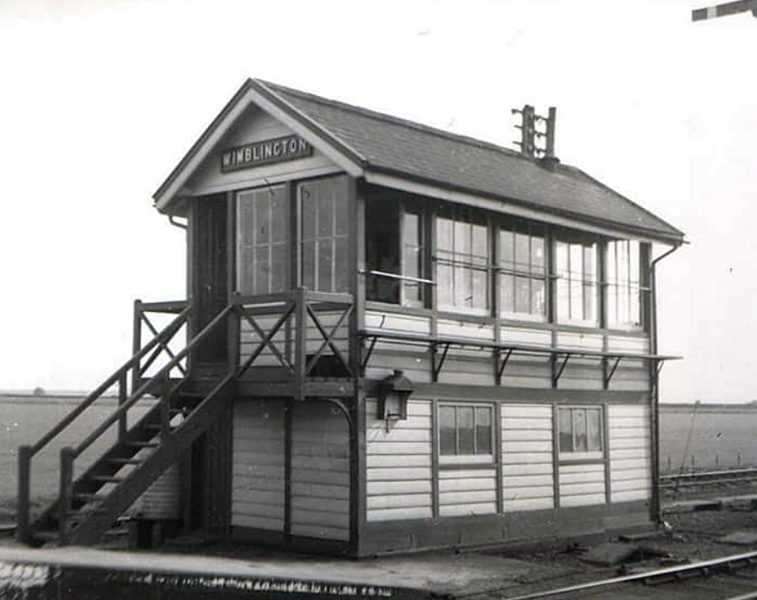 Wimblington Signal Box located at the end of the Down platform.