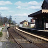 Histon facing Oakington on 14th April 1974. This shows the wooden waiting shelter on the down platform which disappeared not long after the picture was taken.