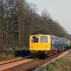 Railway Development Society special approaching the bypass bridge at Histon on 11th April 1981.
