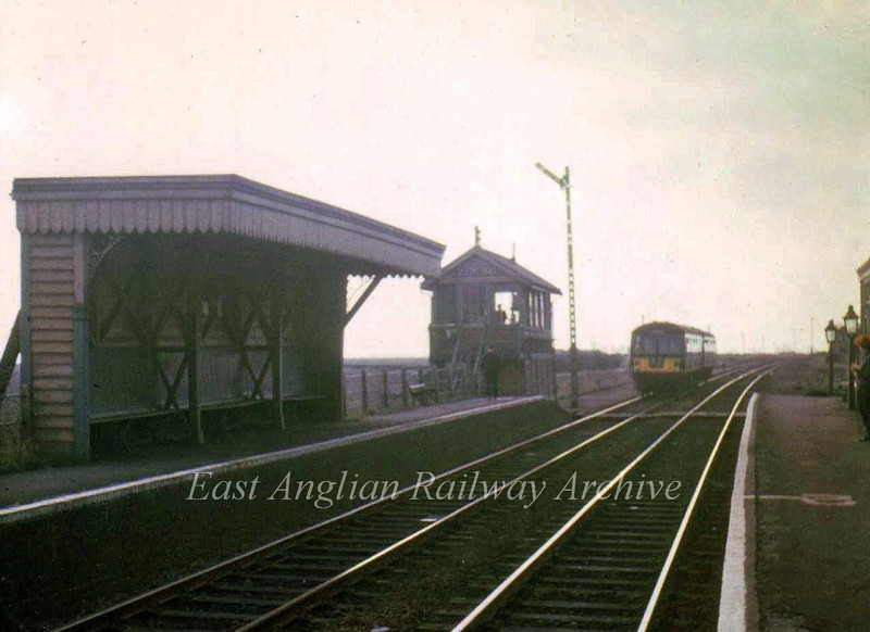 Wimblington looking north on 4th March 1967, the last day of through workings.Photo with kind permission of Stewart Ingram