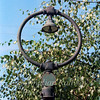 An example of one of the station lamps at Histon, minus its glass dome. This one was located next to the pedestrian gates at the crossing.  17th September 1978