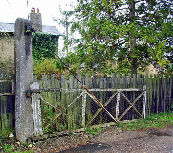 Decaying gate at the entrance to the goods yard. 27th May 2011