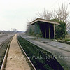 Swavesey Station looking South East from the crossing gates.  12th March 1978