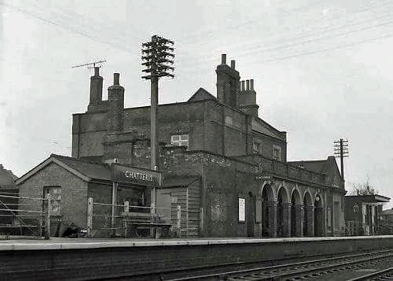 Chatteris, buildings on the Up Platform. To the right is the W.H. Smith bookstall.
